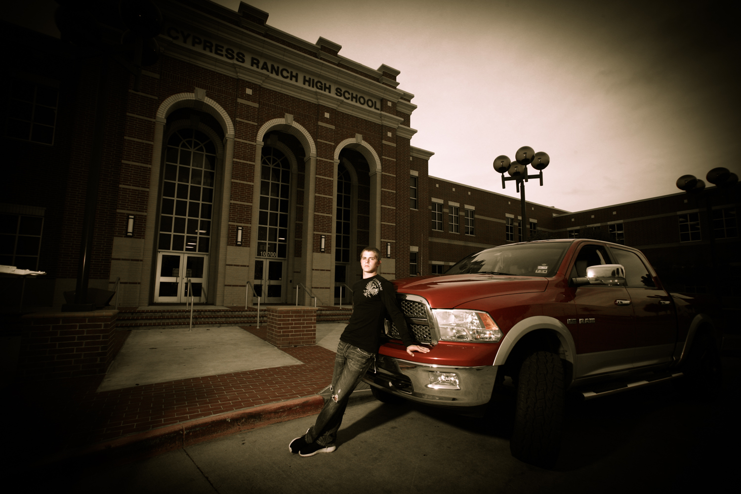 Senior Portrait (On Location With Car) - Guys