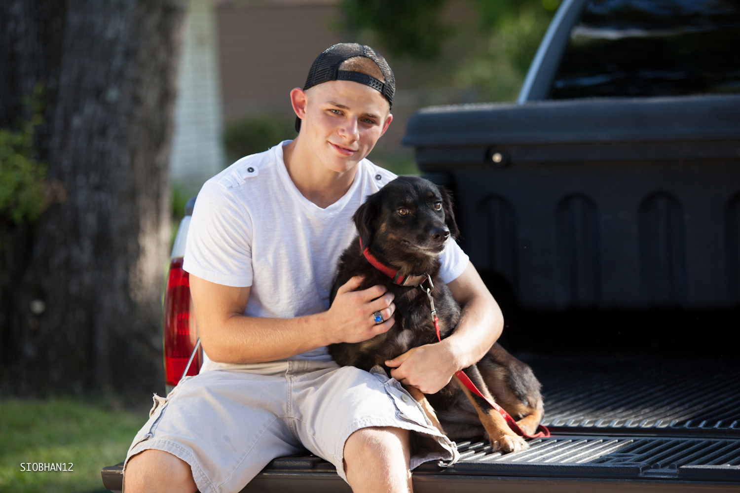 Senior Portrait (Outdoor With Car & Pet) - Guys